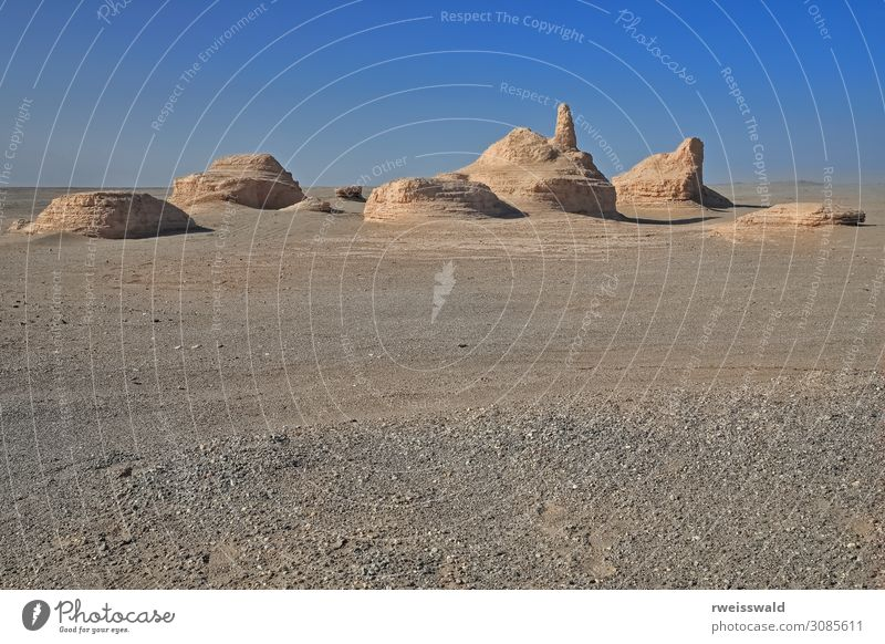Ruined Buddhist stupas-shrines-temples. Miran-Xinjiang-China-461 Sky Vacation & Travel Nature Old Blue Colour Landscape Sun Relaxation Loneliness Calm