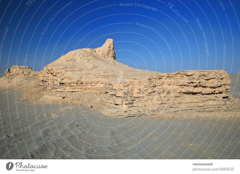 Ruined Buddhist stupas-shrines-temples. Miran-Xinjiang-China-470 Sky Vacation & Travel Nature Old Blue Landscape Sun Loneliness Calm Far-off places Architecture