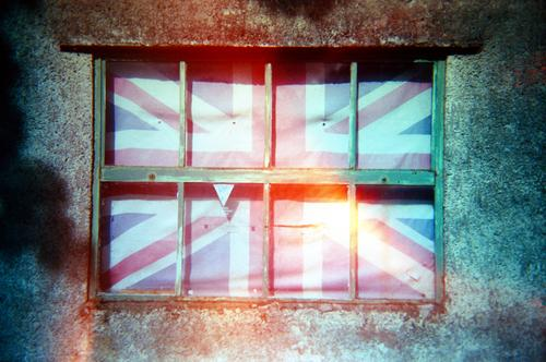 Blue Town White Red Wood Emotions Stone Line Stripe Flag Exclusion Crisis Great Britain Encase