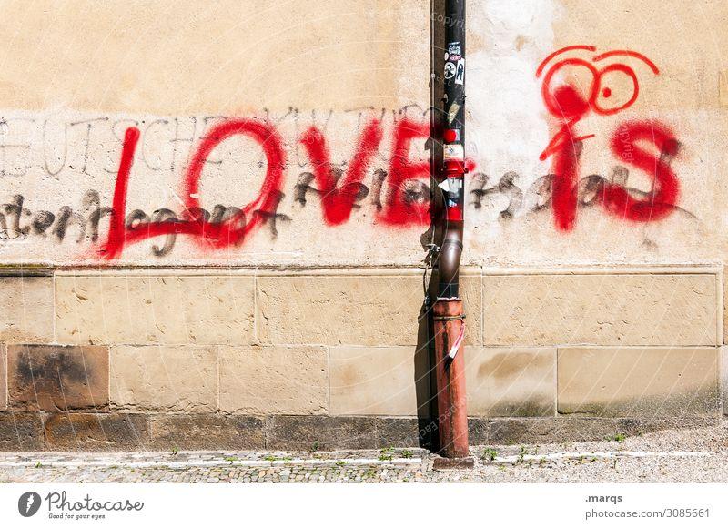 Graffiti Wall (building) Love Wall (barrier) Characters Romance Relationship Infatuation Advice Rain gutter