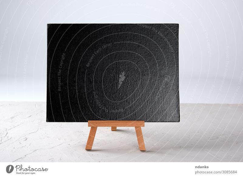 empty black frame stands on a wooden tripod School Blackboard Business Wood Write Stand New White Creativity Consistency background billboard Blank Chalk