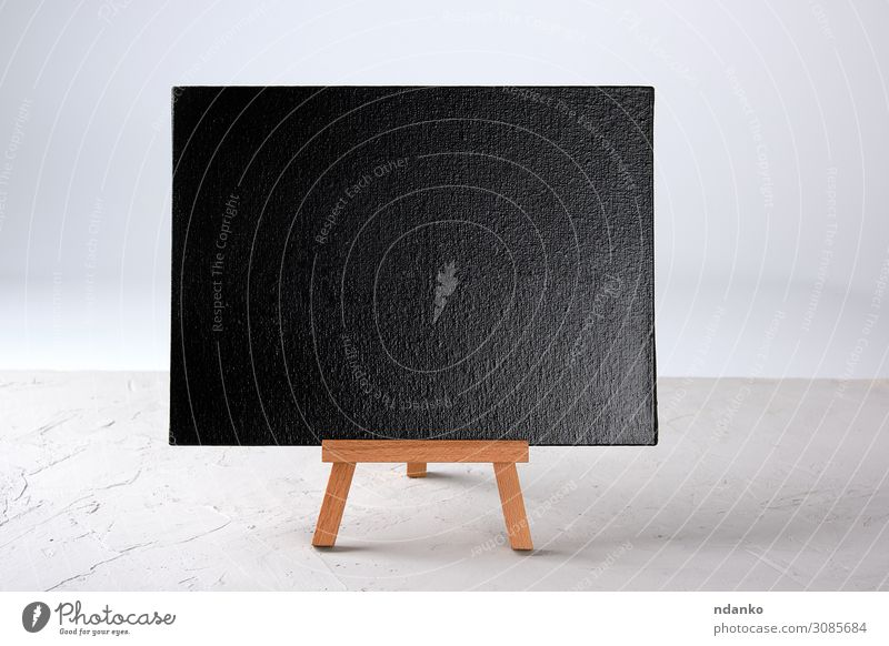 empty black frame stands on a wooden tripod White Black Wood Business School Stand Creativity Illustration New Write Blackboard Chalk Conceptual design