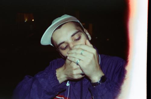 First of the roll Night life Going out Human being Masculine Young man Youth (Young adults) 1 Art Subculture 35mm film Town Smoking Authentic Exceptional