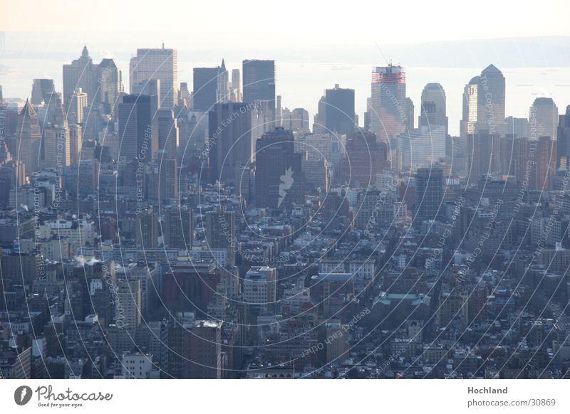 Architecture Fog High-rise Manhattan New York City