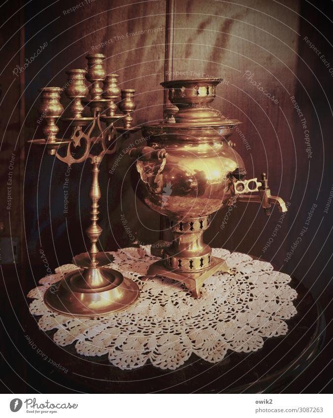 Old Wood Metal Illuminate Glittering Stand Historic Tradition Tablecloth Russia Cupboard Precious Candlestick Wardrobe door Menorah-im Samowar