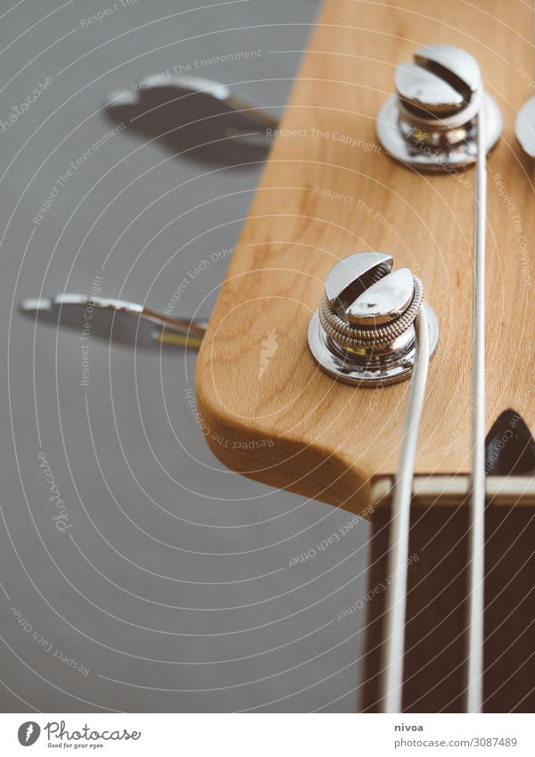 Guitar head in the neckline Leisure and hobbies Playing Music Skinhead Punk Rockabilly Collection Collector's item Wood Guitar neck Guitar string Touch