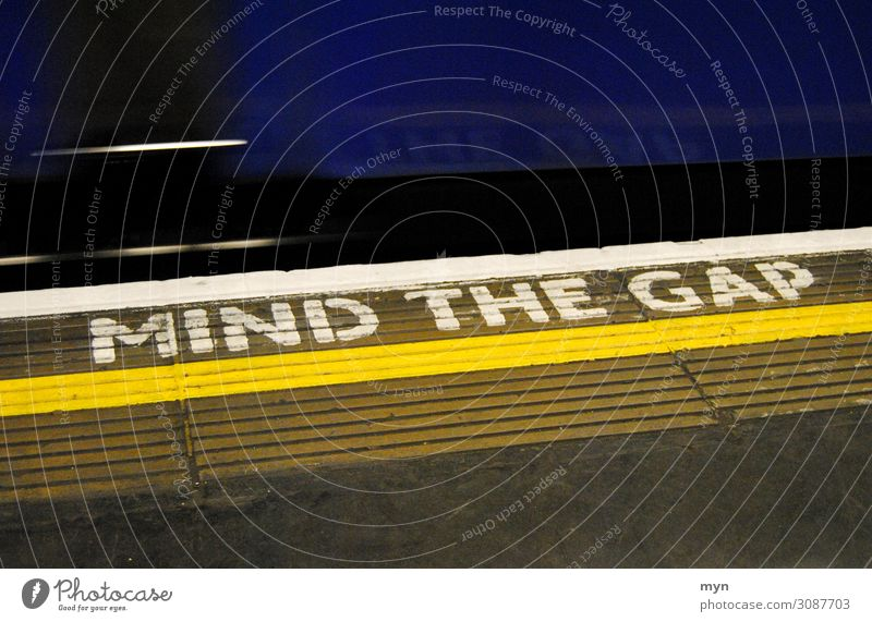 Mind the Gap - London Tube Underground mind the gap London Underground Great Britain Platform urban Transport esteem Caution Station Vacation & Travel