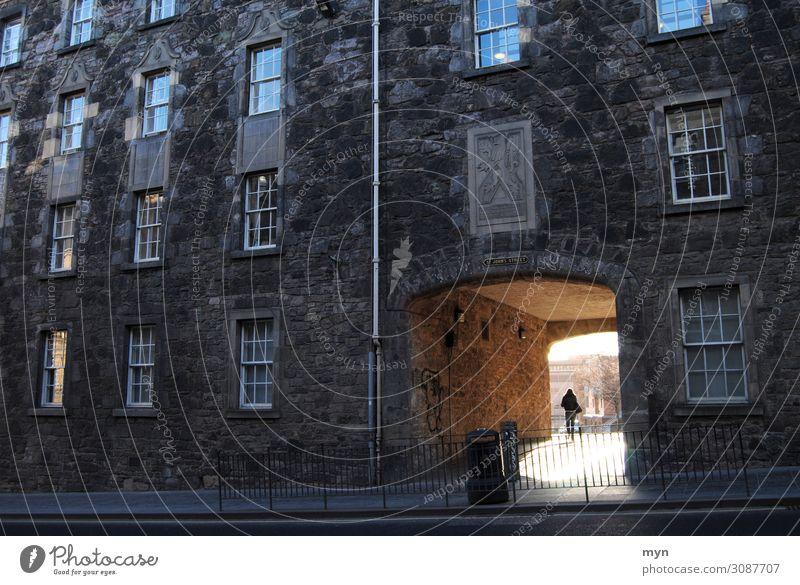 Sunlight falls through a passageway of a dark facade in Edinburgh - Hope Passage Light Facade Facades Dark Light at the end of the tunnel corona Back-light