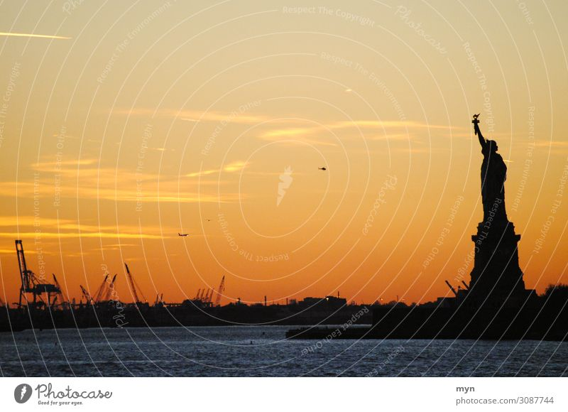 Statue of Liberty I Vacation & Travel Tourism Far-off places Freedom Sightseeing City trip New York City USA Town Tourist Attraction Landmark Navigation