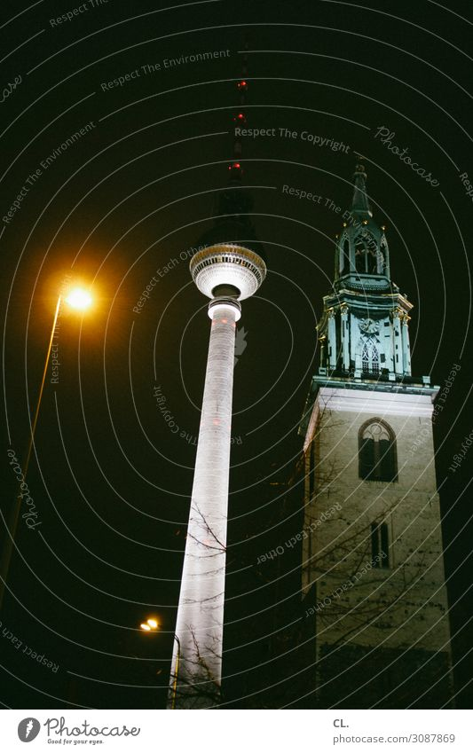 lantern, church, tower City trip Berlin Capital city Downtown Church Tower Manmade structures Building Architecture Tourist Attraction Landmark Berlin TV Tower