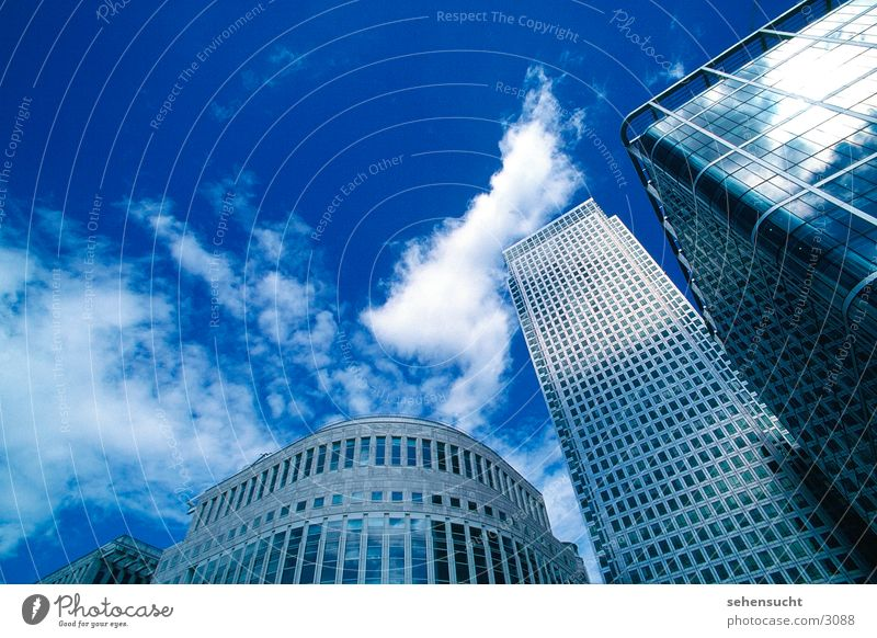 Sky Blue Clouds Window Architecture High-rise Skyline London