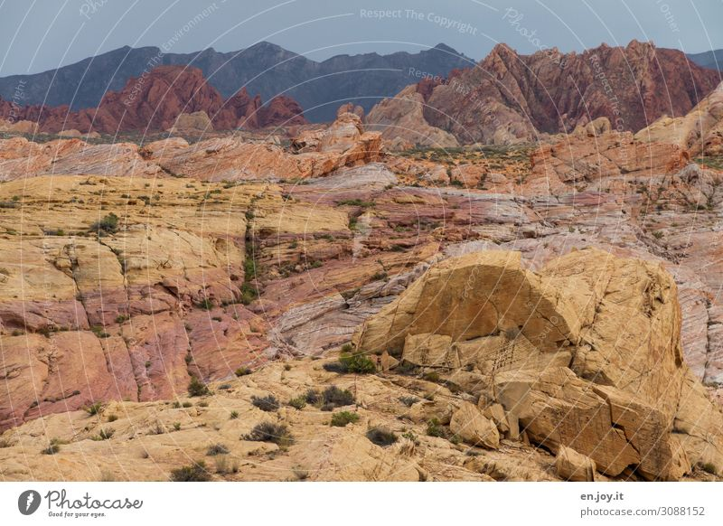 Colorful sandstone rocks in the Valley of Fire Valley of Fire State Park Nevada USA Americas North America Rock Sandstone sandstone formation rock formation