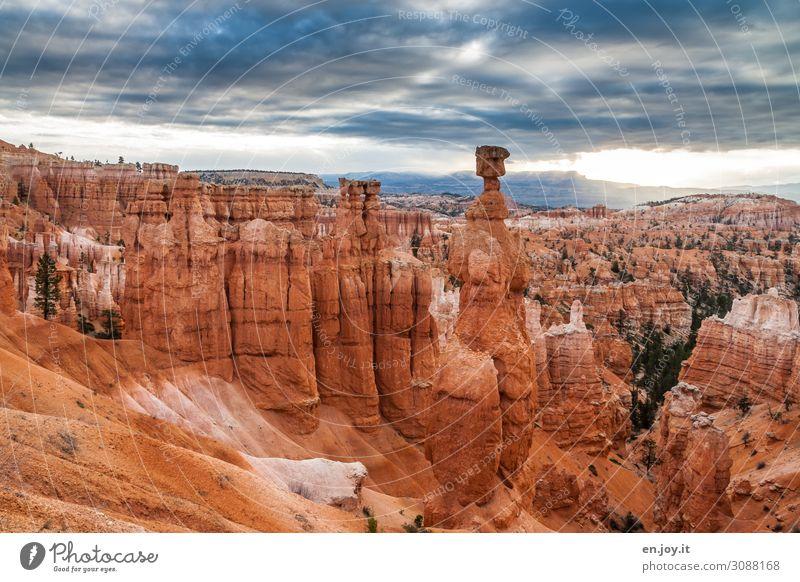 Sky Vacation & Travel Nature Landscape Far-off places Tourism Exceptional Orange Rock Trip Horizon Adventure USA Transience Climate Americas