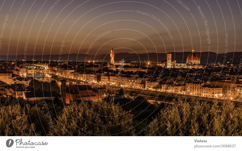 Florence II Tuscany Cradle of the Renaissance Piazzale Michelangelo Cathedral Santa Maria del Fiore Italy Sunset Light bishop's church Twilight Arno