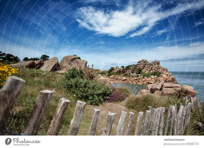 Pink Granite Coast Vacation & Travel Tourism Trip Far-off places Summer Beach Environment Landscape Sand Sky Beautiful weather Rose Rock Bay Ocean