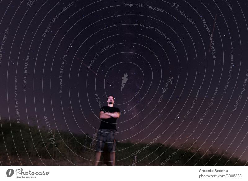 the blurred guy Human being Sky Nature Man Loneliness Lifestyle Adults Wait Posture Guy Caucasian Astronomy