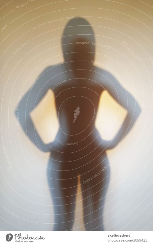 Silhouette of an anonymous woman Beautiful Human being Feminine Young woman Youth (Young adults) Woman Adults Body 1 18 - 30 years Power Avatar Anonymous