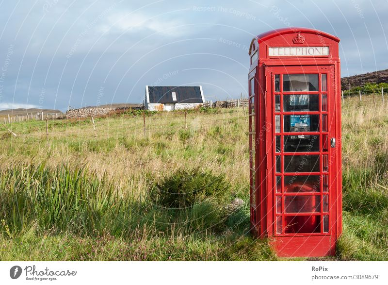 Phonebox in rural scotland. Vacation & Travel Nature Old Landscape House (Residential Structure) Lifestyle Environment Meadow Emotions Tourism Freedom Moody