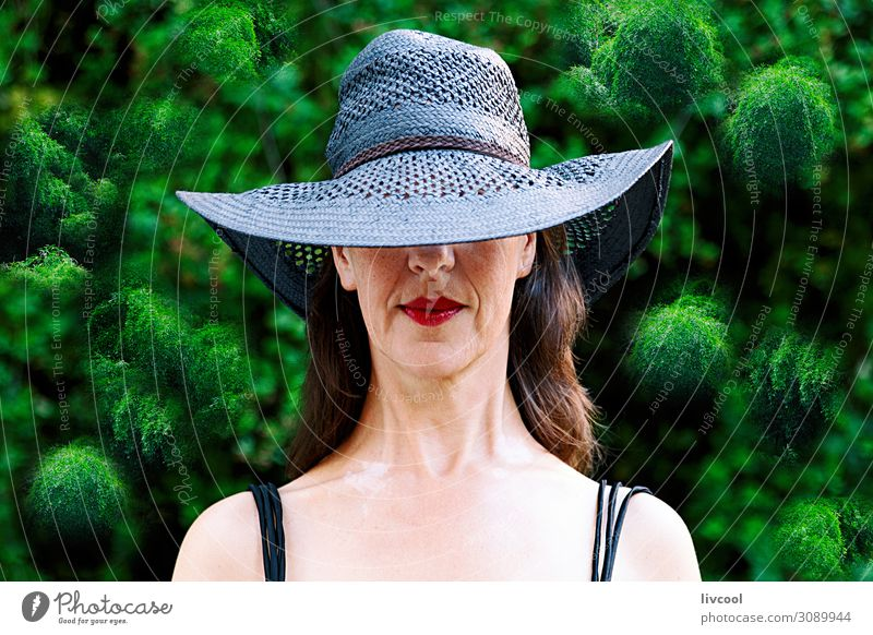 woman among bamboos garden , spain Woman Human being Nature Plant Beautiful Green Tree Leaf Black Face Lifestyle Adults Senior citizen Feminine Emotions