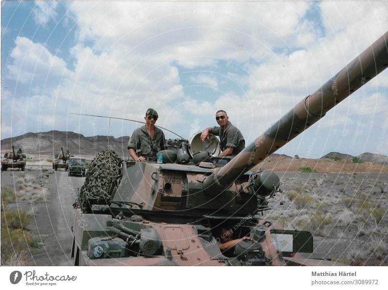 Tanks ERC 90 Foreign Legionnaires in the Djibouti Desert 1989 Human being Masculine Friendship Adults 2 18 - 30 years Youth (Young adults) Honor Bravery