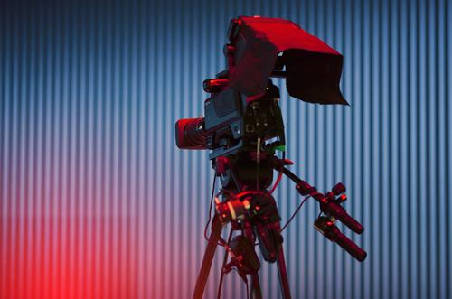 on the air Hardware Video camera Cable Technology Entertainment electronics Advancement Future High-tech Information Technology Rotate Video shoot film studio