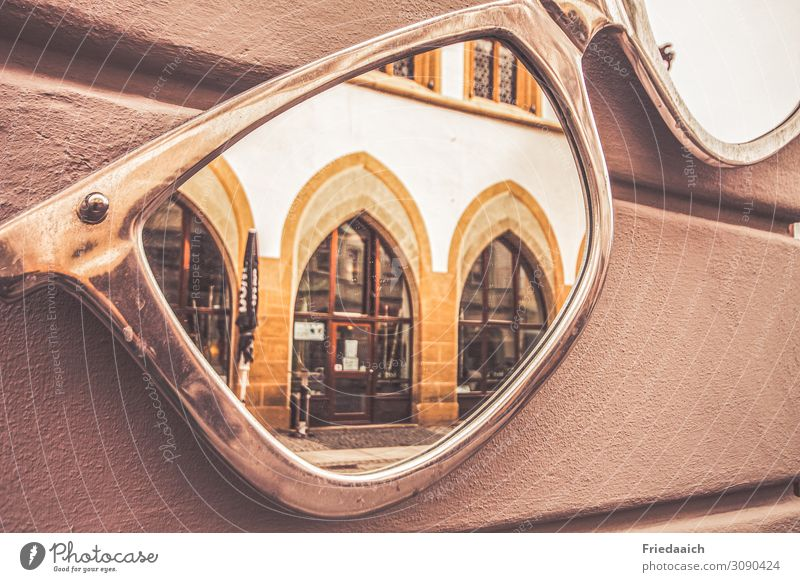 mirroring Lifestyle Shopping Style Architecture Small Town Downtown Pedestrian precinct Facade Eyeglasses Mirror Decoration Observe Discover Looking Exceptional