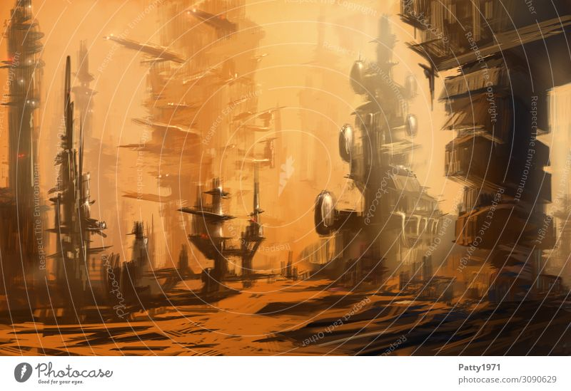 House (Residential Structure) Architecture Building High-rise Perspective Future Industry Illustration Skyline Futurism Downtown Advancement Industrial plant