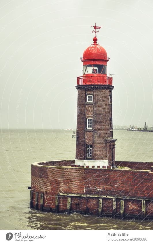 lighthouse Landscape Water Bad weather Coast North Sea Port City House (Residential Structure) Industrial plant Tower Lighthouse Manmade structures Building