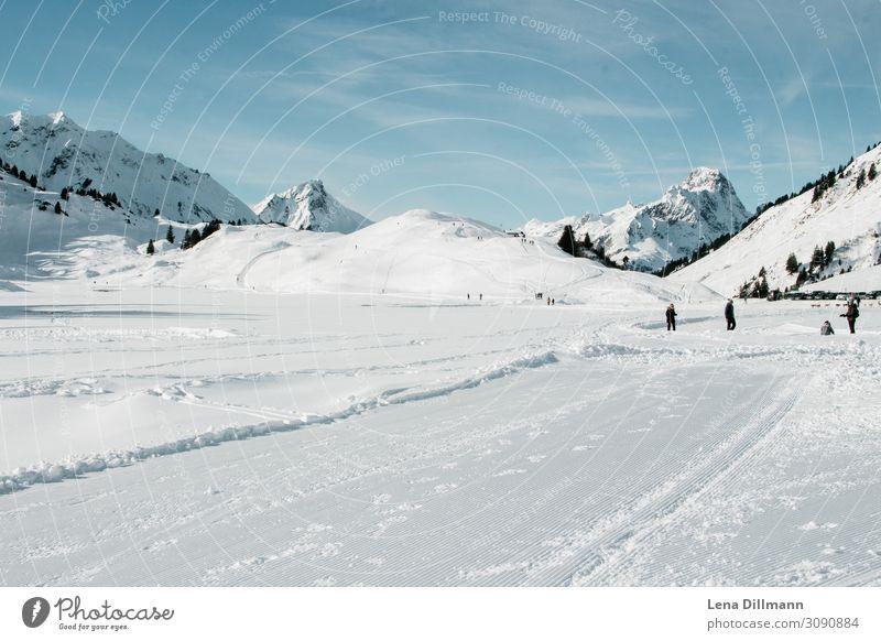 Warth/Schröcken Vorlaberg Snow Winter mountains Alps Landscape warth horror Saloberkopf Mountain Sky Peak Exterior shot Snowcapped peak Nature Colour photo Day