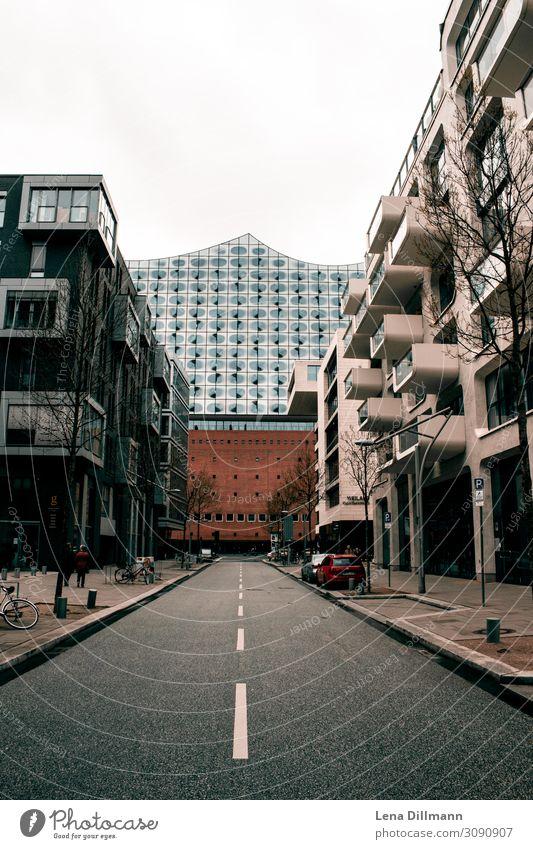 Hambur Elbphilharmonie Hamburg Town Cities House (Residential Structure) houses Clouds rainy bridge Germany Northern Germany Street Landscape format