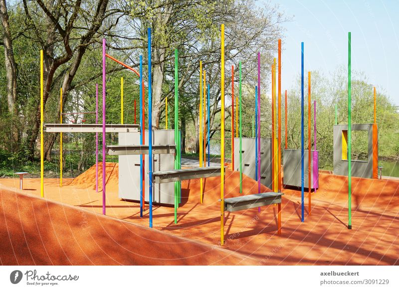 Parkour Fitness pole forest in Hanover Lifestyle Healthy Athletic Leisure and hobbies Sports Sports Training Sporting Complex Multicoloured Hannover Germany