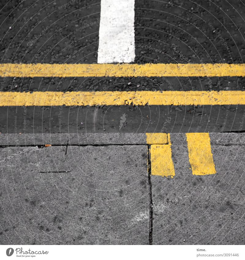 Town White Black Street Yellow Dye Lanes & trails Stone Gray Design Line In pairs Transport Communicate Simple Concrete