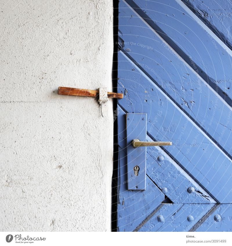 Entrees (VII) House (Residential Structure) Barn Storage shed Wall (barrier) Wall (building) door Door handle Door lock Safety hook Backup Nail Rivet Diagonal