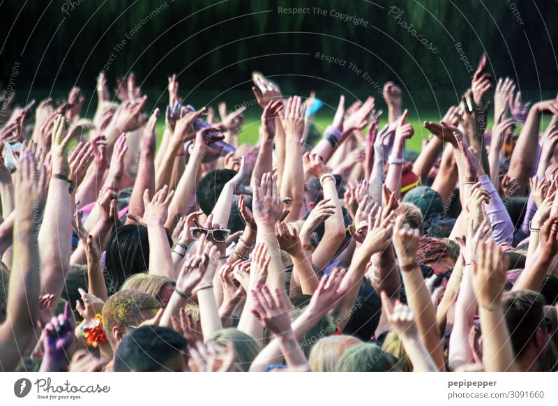 put your hands up in the air Leisure and hobbies Party Event Music Feasts & Celebrations Clubbing Dance Holi festival Human being Masculine Feminine Life