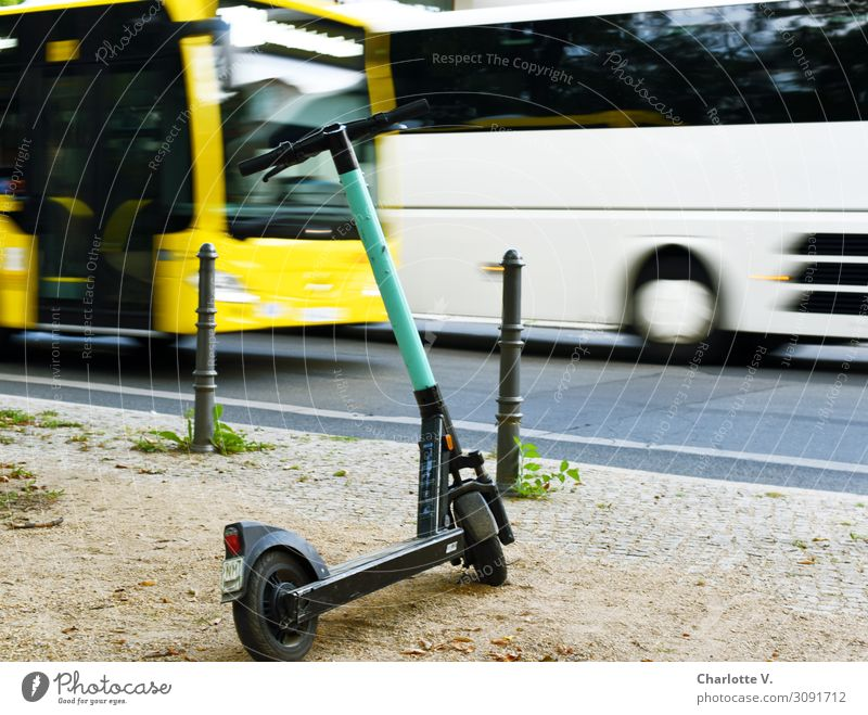 means of transport Transport Means of transport Passenger traffic Public transit Road traffic Street Bus e-roller electric scooter Metal Movement Driving Large