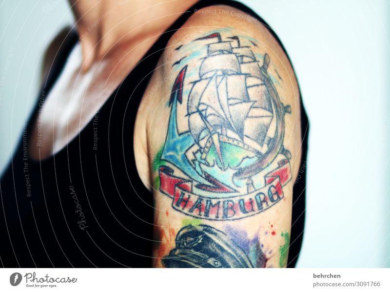 Woman Beautiful Adults Art Exceptional Watercraft Body Power Skin Arm Uniqueness Hamburg Tattoo Passion Brave Pain