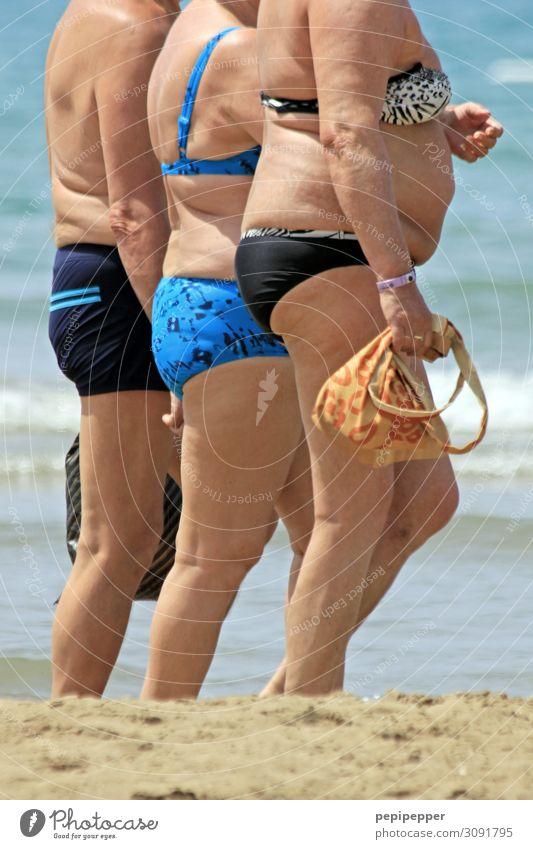beach walk Lifestyle Luxury Vacation & Travel Tourism Trip Summer vacation Beach Ocean Waves Human being Senior citizen Body 3 60 years and older Coast Bikini