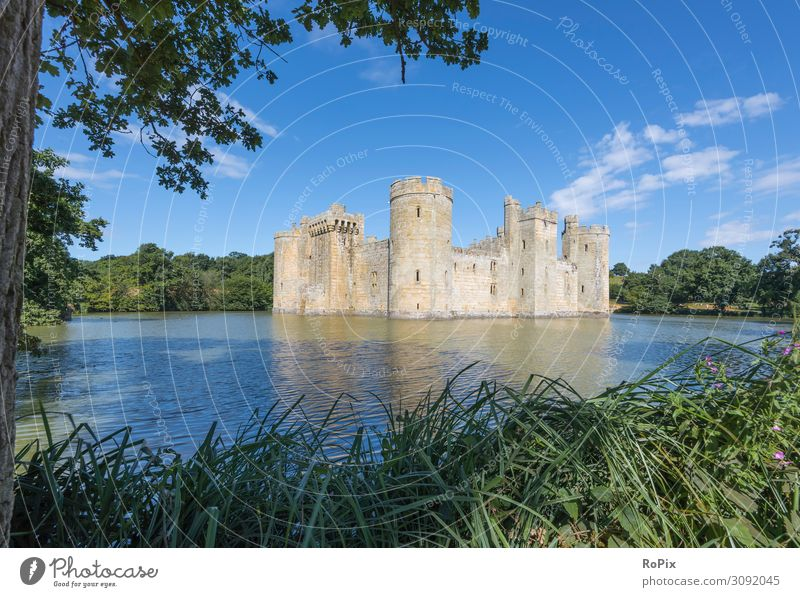 Bodiam Castle in south England. castle Lock Stairs Lake Hollow Scotland scotland Nature Culture Manmade landscape Landscape ardvreck built Architecture Fortress