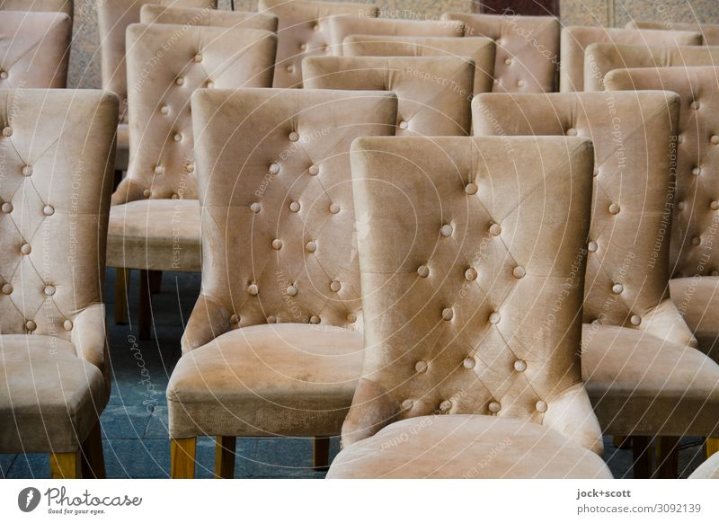 Rows of new chairs Design Trade Decoration Collection Bolster Seating Stud Chair Structures and shapes Elegant Many Agreed Orderliness Quality Style Product