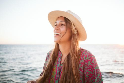 Human being Vacation & Travel Youth (Young adults) Young woman Summer Beautiful Sun Ocean Relaxation Calm Joy Far-off places 18 - 30 years Lifestyle Adults