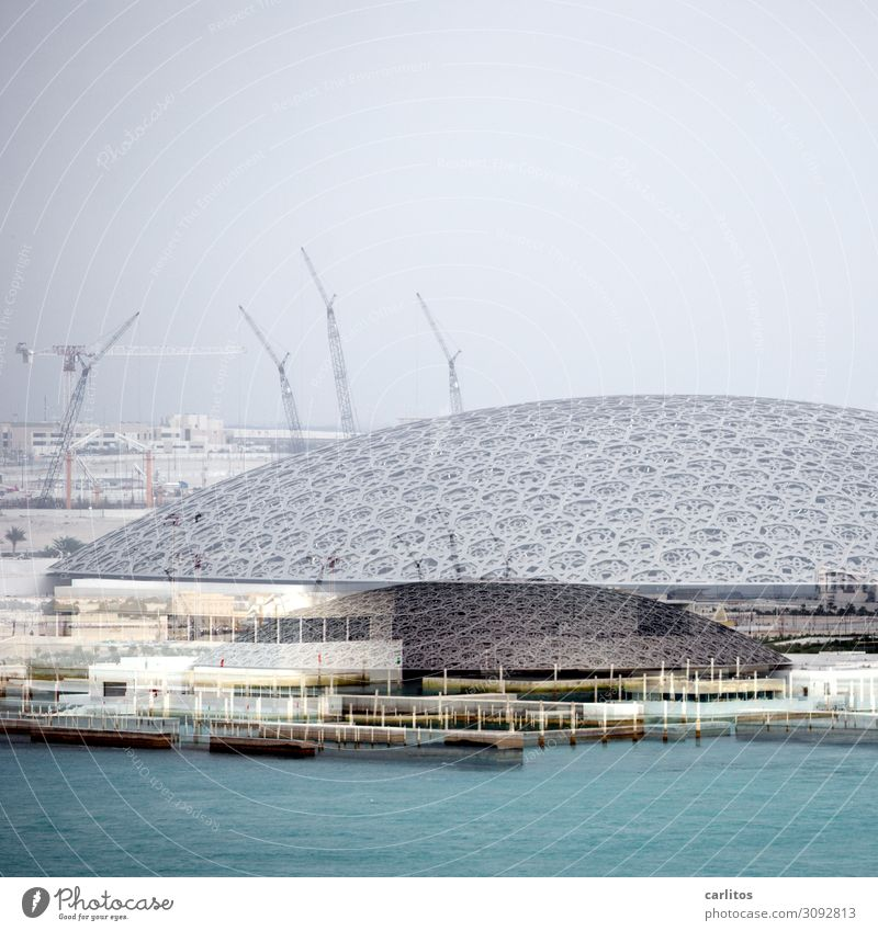 Louvre Money Tourism Art Museum Architecture Future Abu Dhabi United Arab Emirates Near and Middle East Double exposure Abstract