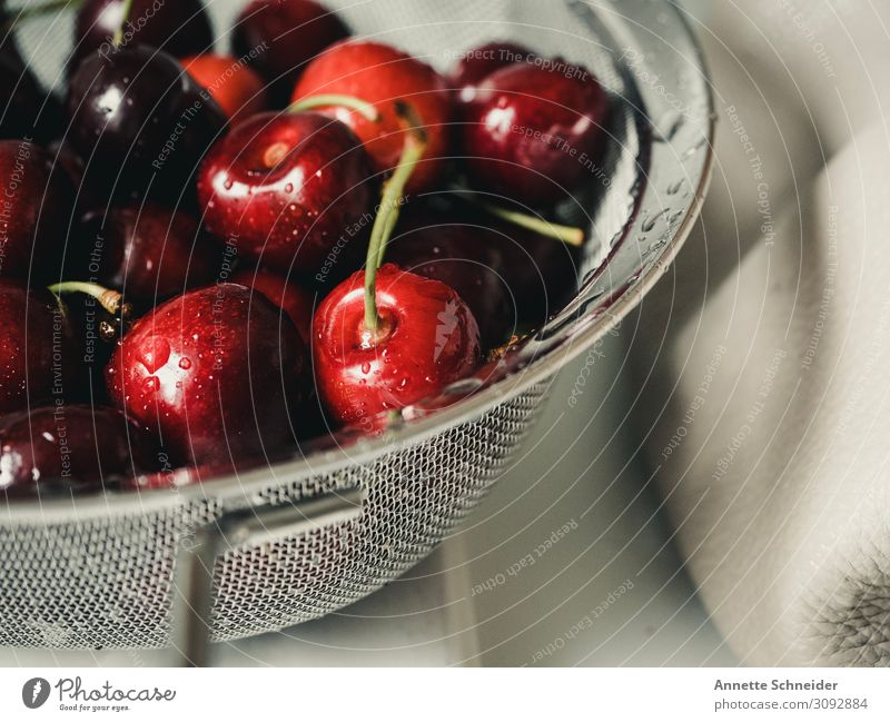 cherries Food Fruit Cherry Nutrition Bowl Healthy Healthy Eating Red Colour photo Interior shot Day
