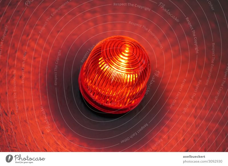 Red light warning lamp in front of film or sound studio Technology Music Media Television Radio (broadcasting) Cinema Film industry Video Infrared lamp