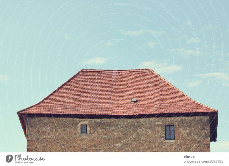 an old house Castle Building Architecture Window Roof Old Historic Retro Romance Serene Calm Senior citizen Esthetic Design Idyll Nostalgia Past Simple