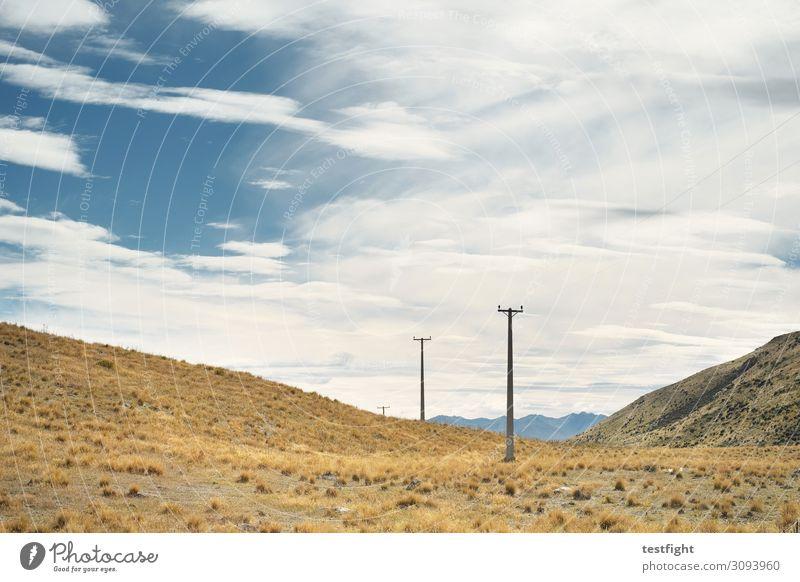 Sky Vacation & Travel Nature Plant Landscape Clouds Animal Mountain Environment Grass Vantage point Bushes Hill Electricity pylon Steppe