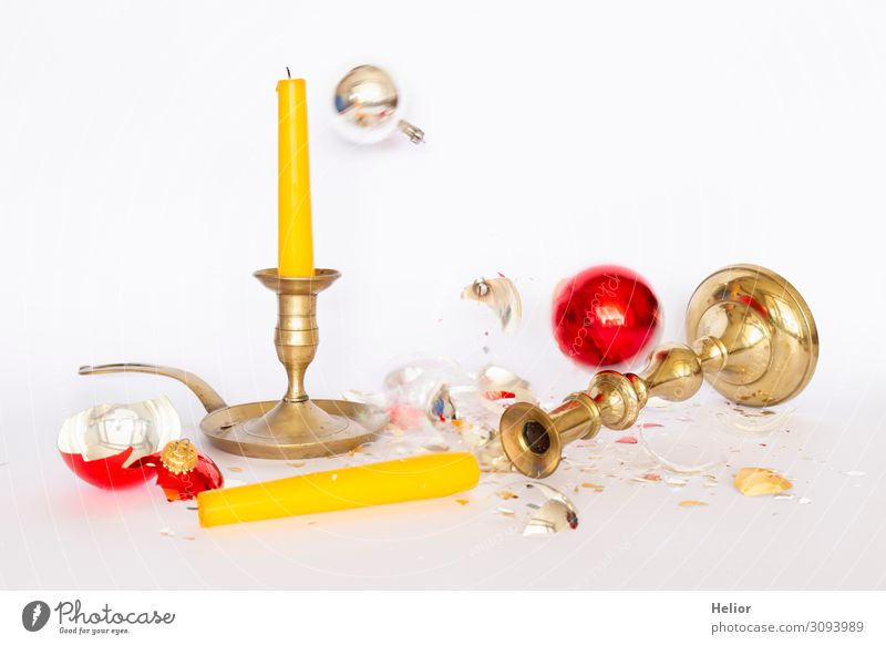 Christmas & Advent White Red Winter Background picture Religion and faith Yellow Sadness Retro Gold Lie Stand Broken Candle Tradition To fall