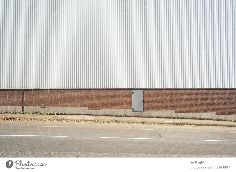 door Deserted House (Residential Structure) Industrial plant Factory Manmade structures Building Architecture Wall (barrier) Wall (building) Facade Door Street