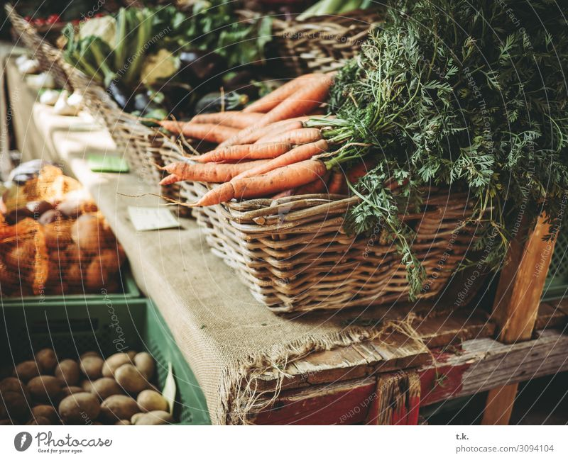fresh carrots Food Vegetable Fruit Carrot Potatoes Nutrition Shopping Healthy Healthy Eating Summer Nature Autumn Climate change Fresh Brown Green Orange