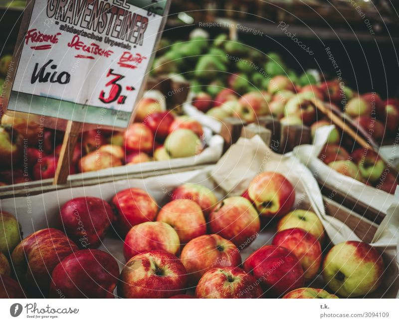 Apples 3 Euro Vegetable Fruit Summer Autumn Fragrance Shopping Sell Fresh Healthy Natural Yellow Green Red Attentive Fair Climate Joie de vivre (Vitality)