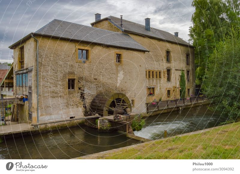 Old water mill on the tuna river running through Beautiful House (Residential Structure) Nature Landscape Autumn Tree Leaf Forest Building Architecture Stone